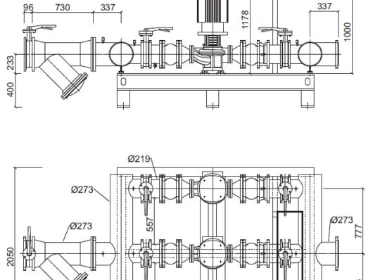 Гидромодуль серии YMHK-D-I для внутренней установки