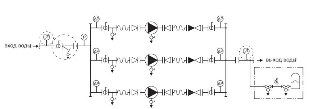Гидравлическая схема YMHK-D-I-H(V)-6A, 6B