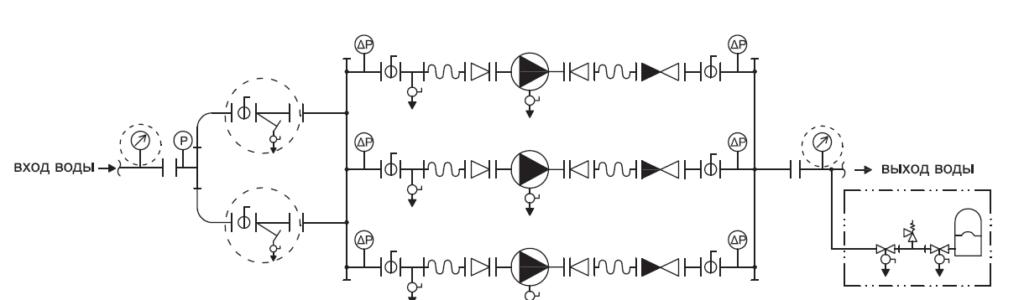 Гидравлическая схема YMHK-D-I-HH(HV)-7C, 7D